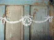 Floral Wreath with Swags