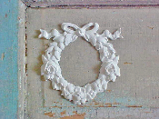Shabby Rose with Bow Wreath