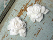 Large Shabby Rose (set of 2)