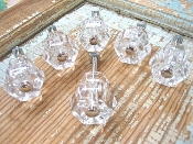 Clear Glass Knobs (set of 6)