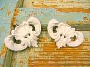 Shabby Floral Corners (set of 2)