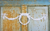Shabby Wreath w/ Swags and Bows