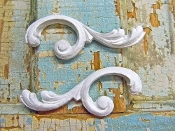 Chic Architectural Scrolls (set of 2)