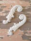 Chic Architectural Carved Scrolls (set of 2)